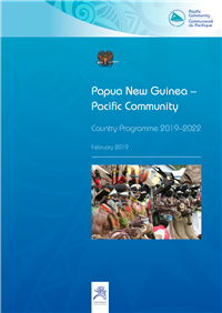 Papua New Guinea - Pacific Community country programme 2019-2022