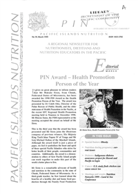PIN (Pacific Islands NCDs): Promoting a healthier Pacific n° 39