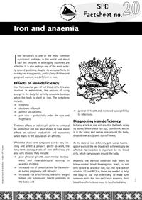 Iron and anaemia