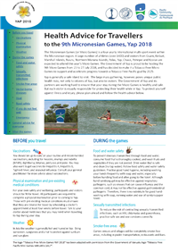 Health advice for travellers to the 9th Micronesian Games, Yap 2018