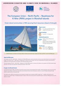 European Union – North Pacific – Readiness For El Niño (RENI) Project in Marshall Islands: outer island communities in RMI securing food resources ahead of drought