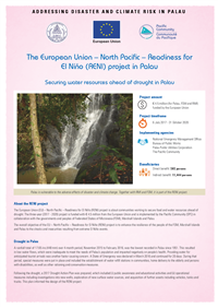 The European Union – North Pacific – Readiness for El Niño (RENI) project in Palau: securing water resources ahead of drought in Palau