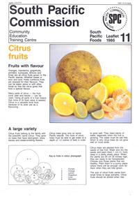 Citrus fruits: fruits with flavour