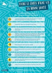 Faire le choix d'une vie en bonne santé : recommandations pour une vie saine dans le Pacifique