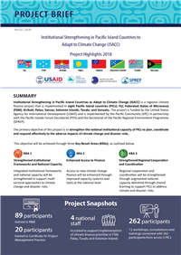 Institutional strengthening in Pacific Island Countries to Adapt to Climate Change (ISACC): Project Highlights 2018