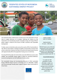 Federated States of Micronesia Sustainable Energy Project Factsheet