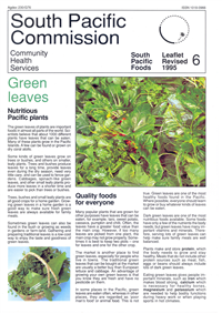 Green leaves: nutritious Pacific plants