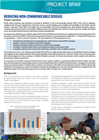Projet Brief: reducing non-communicable disease