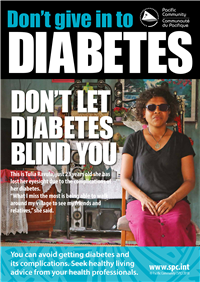 Don't give in to diabetes: don't let diabetes blind you