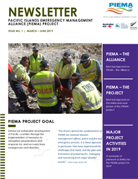 Newsletter - Pacific Islands Emergency Management Alliance (PIEMA) project - Issue No. 1