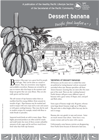 Pacific Islands food leaflets