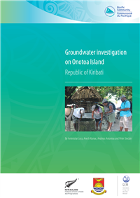 Groundwater investigation on Onotoa Island, Republic of Kiribati