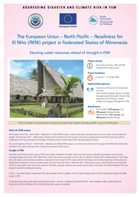 European Union – North Pacific – Readiness For El Niño (RENI) Project in Federated States of Micronesia: securing water resources ahead of drought in FSM