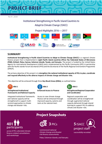 Institutional strengthening in Pacific Island Countries to Adapt to Climate Change (ISACC): Project Highlights 2016-2017