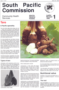 Taro: a South Pacific speciality