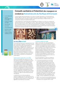 Conseils sanitaires à l'intention des voyageurs se rendant au Festival des arts du Pacifique 2016 à Guam
