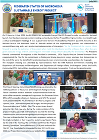 Federated States of Micronesia Sustainable Energy Project Newsletter July 2021