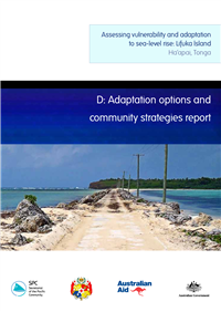 D. Adaptation options and community strategies report