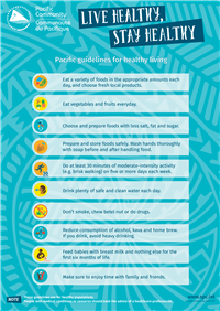 Live healthy, stay healthy: Pacific guidelines for healthy living