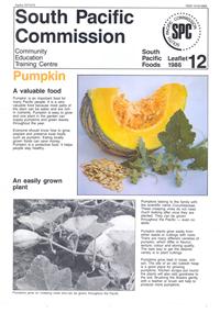 Pumpkin: a valuable food