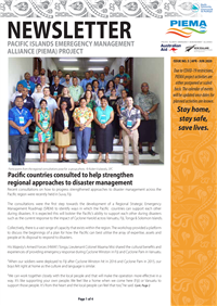 Newsletter - Pacific Islands Emergency Management Alliance (PIEMA) project - Issue No. 5