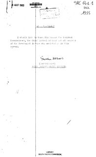 [Report on nutrition survey in the Cook Islands 1955]