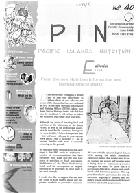 PIN (Pacific Islands NCDs): Promoting a healthier Pacific n° 40