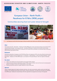 European Union – North Pacific – Readiness For El Niño (RENI) Project: communities securing food and water ahead of drought