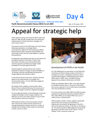 Pacific Non-communicable disease Forum 2009: appeal for strategic help