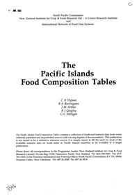 Chemistry of tropical root crops: significance for nutrition and agriculture in the Pacific