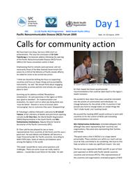 Pacific Non-communicable disease Forum 2009: calls for community action