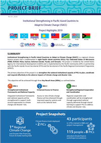 Institutional strengthening in Pacific Island Countries to Adapt to Climate Change (ISACC): Project Highlights 2019