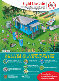 Some simple steps to eliminate mosquito breeding sites in and around your home
