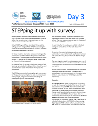 Pacific Non-communicable disease Forum 2009: stePping it up with surveys