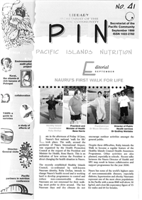 PIN (Pacific Islands NCDs): Promoting a healthier Pacific n° 41